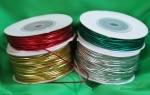 1.2mm Round metallic elastic shock cord sold in 20m units