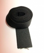 25mm black woven elastic cut at approx 1010mm