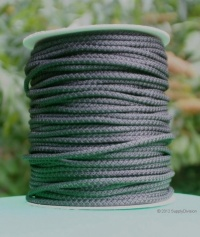 B424B Black 6mm Polypropylene cord 100m reel