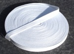 13mm Plain Weave Optical White cotton tape