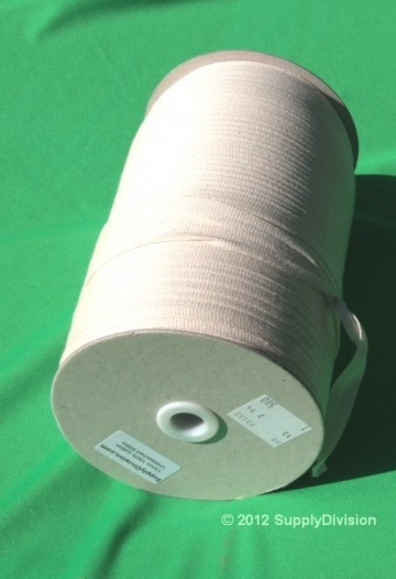 13mm Plain Weave Unbleached cotton tape 500m reel