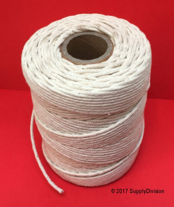 2mm pure UNBLEACHED Cotton cord 100m reel