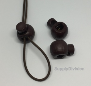 Article:CLBALL Plastic cord lock: BROWN CLEARANCE