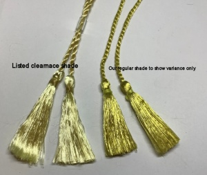 A5 Tassel. Gold 100 pack: CLEARANCE