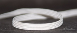 6 cord 5mm White elastic, 100m reel