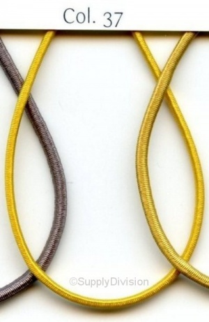 Old Gold 2mm round elastic 100m reel