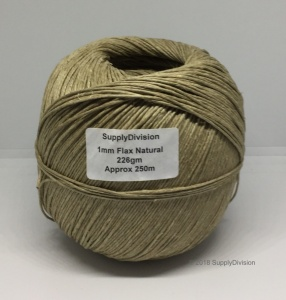 Flax cord on spool (approx 250m)