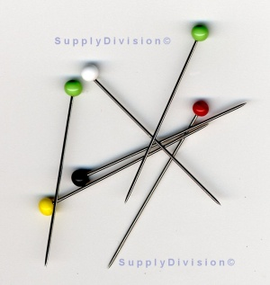48mm Glass-headed nickel-plated steel pin