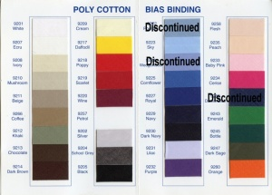 Poly-Cotton Bias Binding Close-fold to 12.5mm.