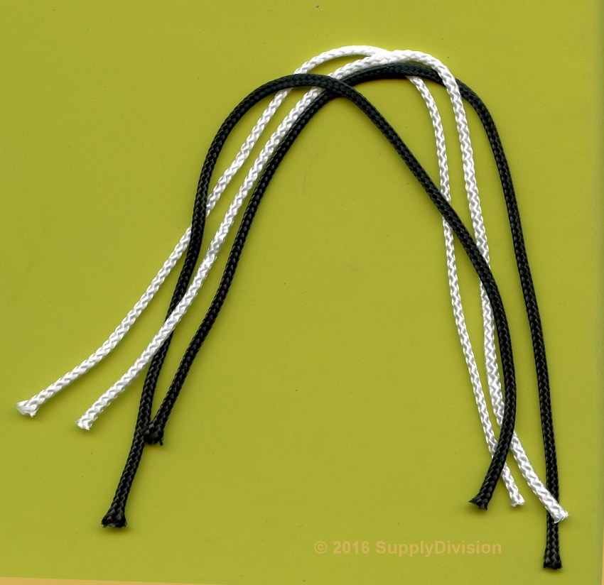 13AA  Cut pieces 1.3mm Braided Nylon cord 500 pcs