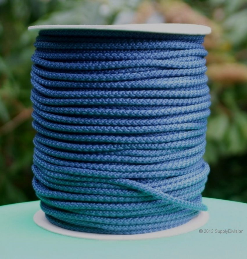 B424B Navy Blue 6mm Polypropylene cord 100m reel