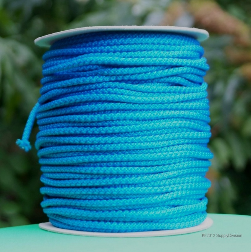 B424B Royal Blue 6mm Polypropylene cord 100m reel