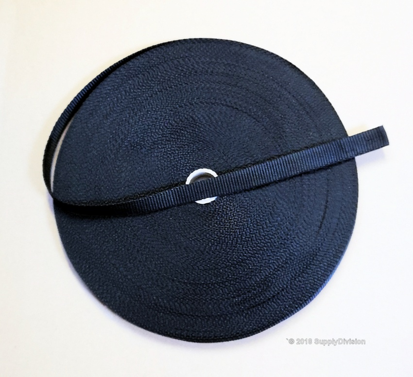 CLEARANCE: 20mm Black polypropylene webbing, 50m roll