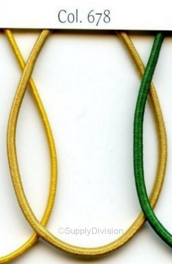 New Gold 2mm round elastic 100m reel