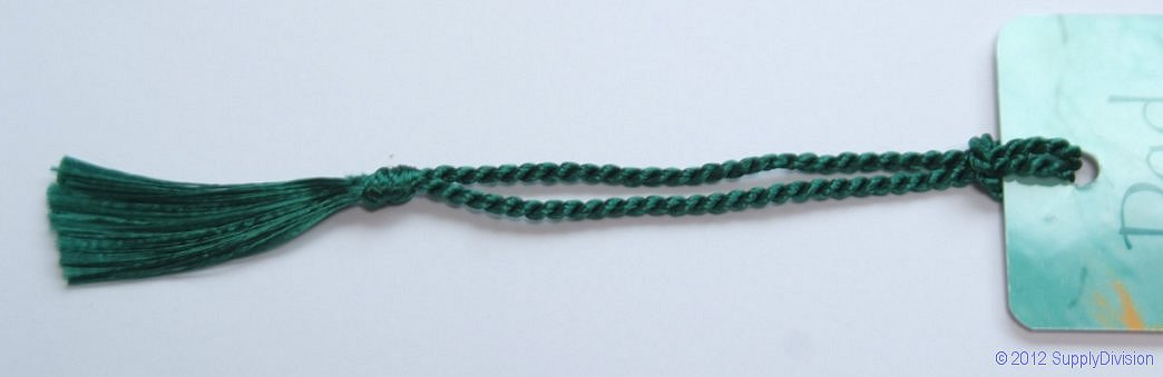 Rayon Bookmark tassel Bottle Green pack