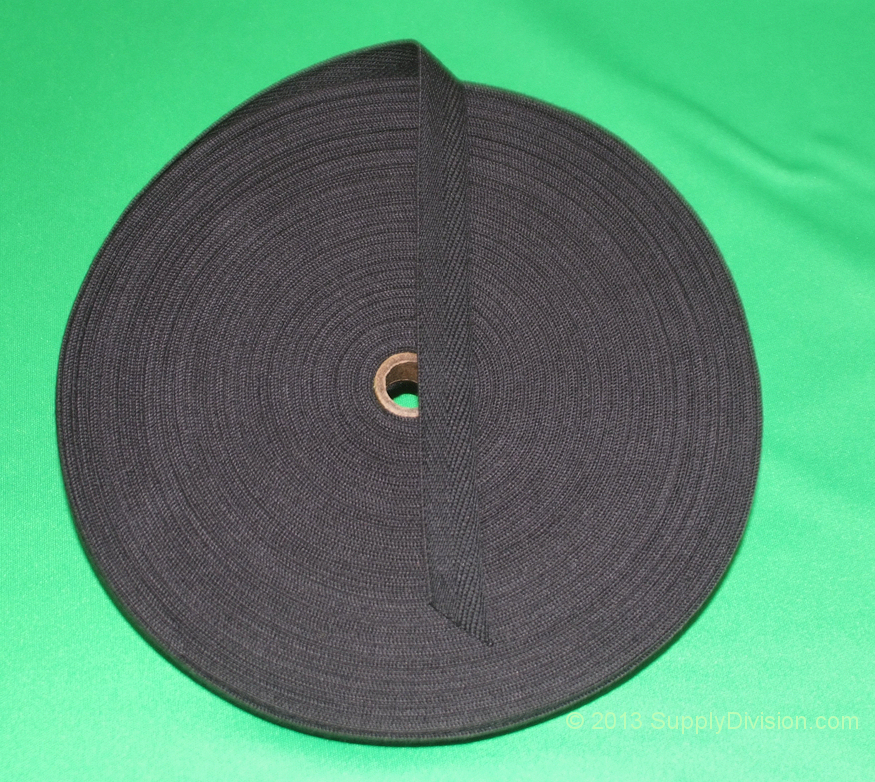 13mm Black 100% cotton twill webbing tape, 100m.