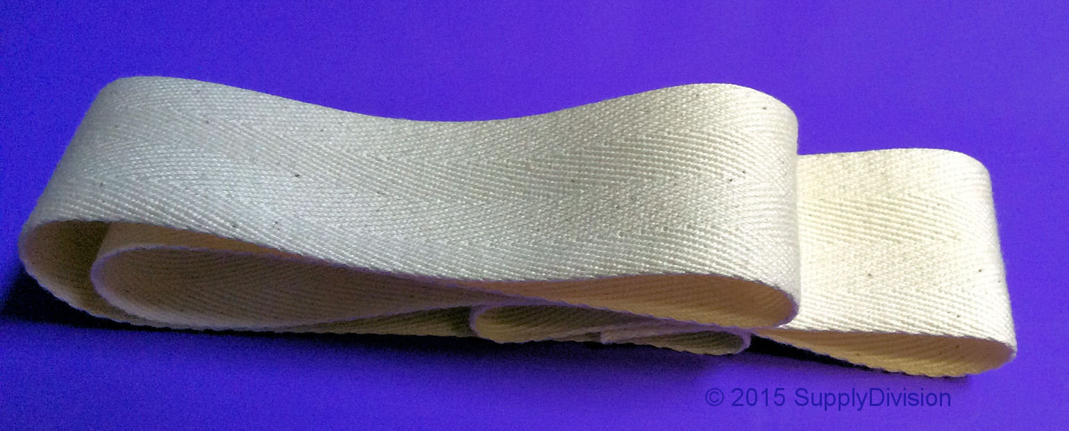 38mm Unbleached 100% cotton twill tape