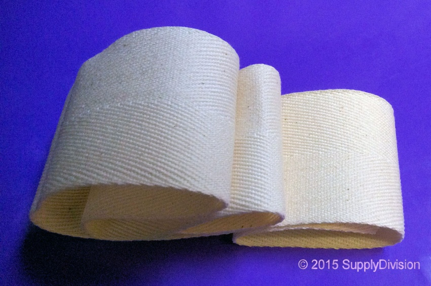 50mm Unbleached 100% cotton twill tape, 100m