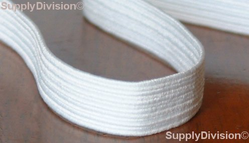 8 cord 6-7mm White elastic, 250m reel.
