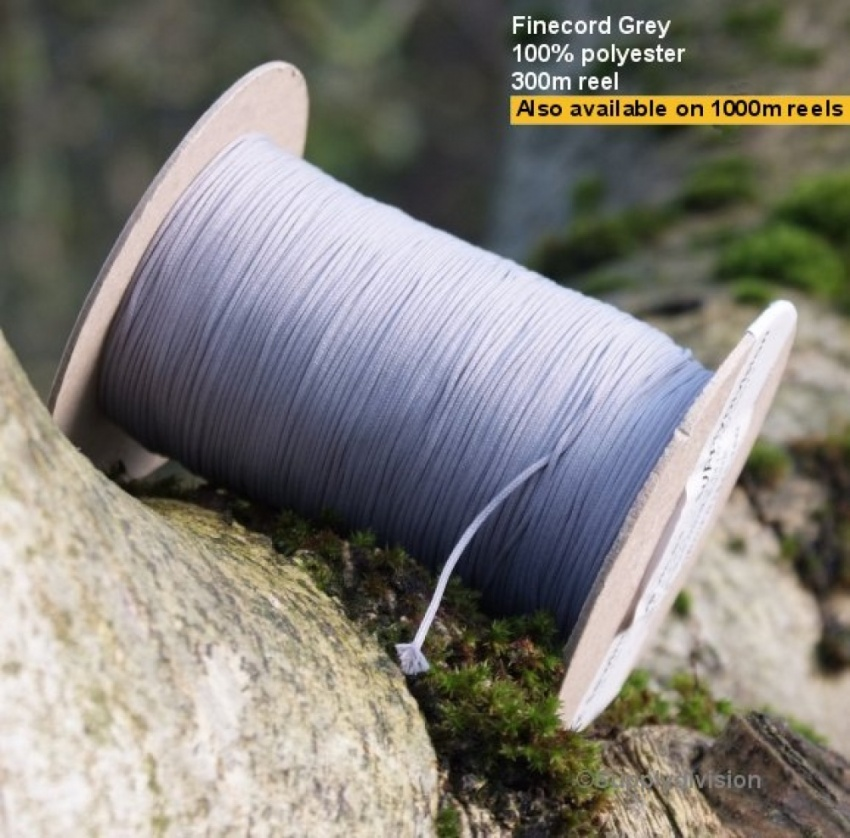 Finecord COL: Silver Grey 1000m reel