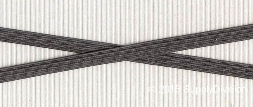6mm(approx) flat elastic, SD544 Grey