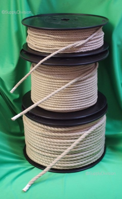 6mm Synthetic Hemp 3 strand rope 100m