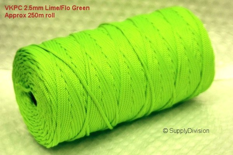 VKPC 2.5mm Flo Green 250m reel