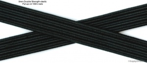 9mmDOUBLE-STRENGTH-Black-elastic cut pieces