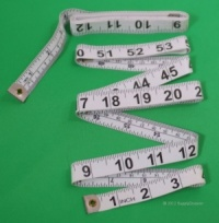 Fibreglass Tape-measure, (White) Sold in 6's
